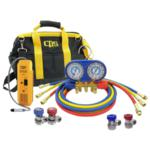 Bag kit with leak detector