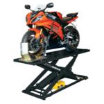 1K lb Capacity Air Operated Motorcycle Lift Black
