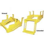 Ancra 3 Step Trailer Access Step Yellow Powder Coated