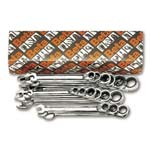 Beta 142/S15 Set of 15 Reversible Ratcheting Combination Wrenches