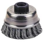 "Knot-Type Wire Cup Brush, 6"" Diameter"