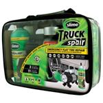 Flat Tire Repair Kit, with 24 oz Bottle of Slime Tire Sealant, Tire Inflator with Gauge and Light
