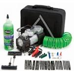Slime Power Spair, Emergency Flat Tire Repair Kit, with Compressor, Plugs, Reamer, Sealant, in Case