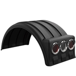 "Minimizer 1900 Series Poly Truck Fender Kit for Dual 19.5"" Wheels"