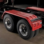 Minimizer 1554 Series Poly Truck Fender Kit for Tandem Axles