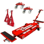"ESCO MiniLift  ""Lift & Move"" With Trolley Wheels and 2 Ton Jack Stands"