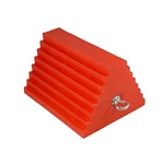 AME Urethane Orange Wheel Chock for 27 - 32 Inch Tires