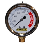 Simplex G5 Compact LIquid Filled Analog Gauge