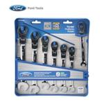 7 Piece Flexible Geared Wrench Set, Metric