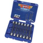 "14 Piece 3/8"" Square Drive SAE Extra Long Hex and Ball Hex Driver Set"
