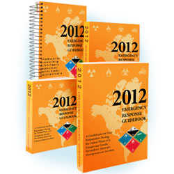 2012 Emergency Response Guidebook - Spiral-Bound 5-1/4in x 7-1/2in