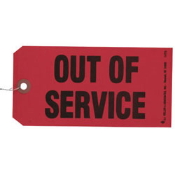 Out Of Service/Maintenance Required Tag (Tagboard)