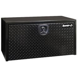 "Black Steel Toolbox with Aluminum Drop Door 18"" x 18"" x 48"""
