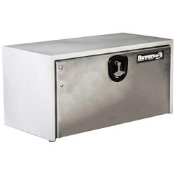 "White Steel Toolbox with Stainless Steel Door 18"" x 18"" x 60"""