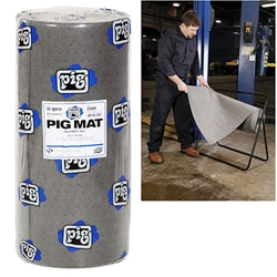 "PIG® Universal Medium-Weight Absorbent Mat Roll - 30"" x 150' (180 Pads per Roll)"