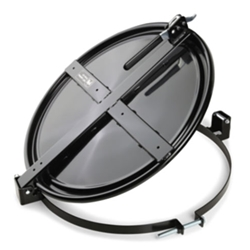 Pig Latching Drum Lid for 55 Gallon Drum - Black