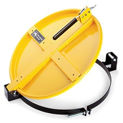 Pig Latching Drum Lid for 55 Gallon Drum - Yellow