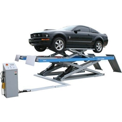12,000 lb. Capacity Alignment Scissor Lift with Built-In Wheels Free Jack
