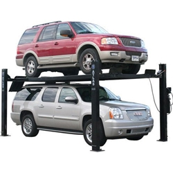 9,000 lb. Capacity 4-Post Lift, Ladder Lock Design