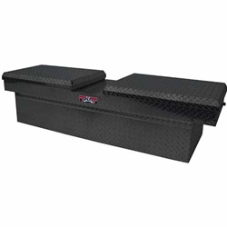 Brute Gull Wing Full Size Step Side & Down Size Tool Box - Shallow Depth - Black