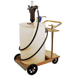 Air Operated DEF Drum Cart System w/ 1:1 Pump Auto Nozzle