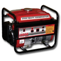 Generator, 1500 W, 2.8 HP, 4 Stroke OHV Engine, Recoil Start, 12V and 120V Outlet, 1.8 Gallon Tank