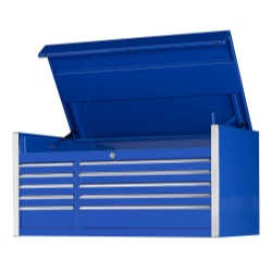 "55"" 10 Drawer Professional Tool Chest - Blue"