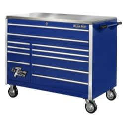 "55"" 11 Drawer Professional Roller Cabinet - Blue"