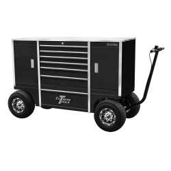 "70"" 7 Drawer/2 Compartment Pit Box, Black"