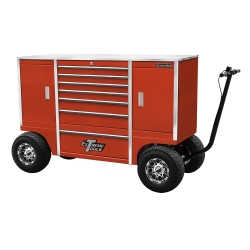 "70"" 7 Drawer/2 Compartment Pit Box, Red"