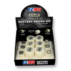 12 Piece Quick Disconnect Battery Brush Kit