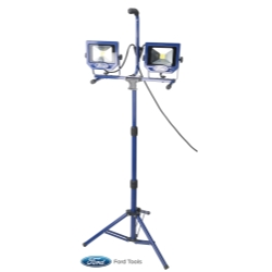 Worklight With Fast Clamp and Stand, 2 x 20W, 2 x 1400 Lumen
