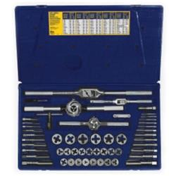 53 Piece Machine Screw / Fractional Tap and Hexagon Die Set