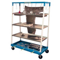 Mobile Parts Shelf Cart
