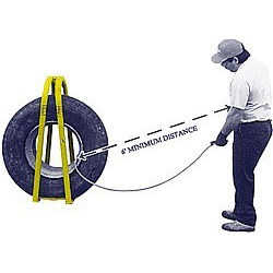 9 foot tire inflator w/lock on chuck