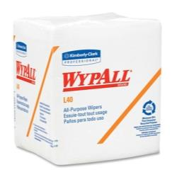 Wypall® L40 Quarterfold Wipers, White