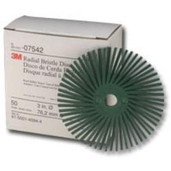 3in Scotch-Brite™ Radial Bristle Discs 50 grade Coarse Green