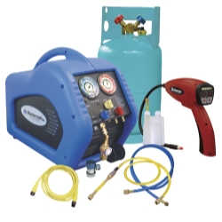 Complete Refrigerant Recovery System with 55100-R Leak Detector