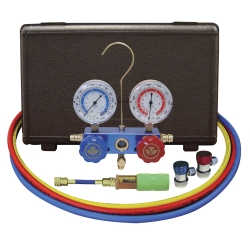 "134A Aluminum Manifold Gauge Set with 60"" Hoses and Manual Couplers"