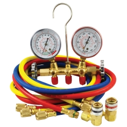 R134A Brass Manifold Gauge Set with Couplers