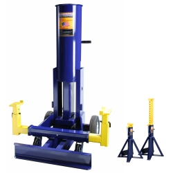 10 Ton Air Operated End Lift with High Lift 10 Ton Stands
