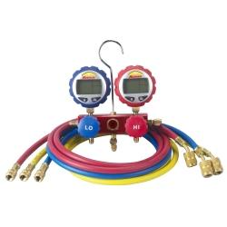 2-Way Manifold with Digital Gauges and 60in Enviro-Guard Hoses