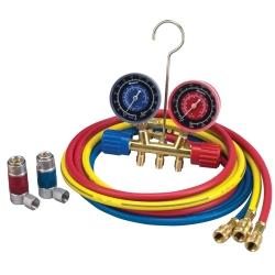 A/C R-134A Manifold Gauge Set with 72in Hose and Couplers