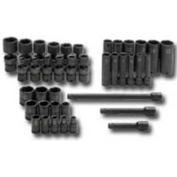 "39 Piece 1/4"" Drive Metric High Visibility Impact Socket Superset"
