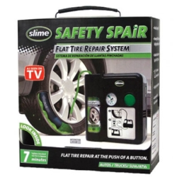 Slime Safety Spair, Emergency Flat Tire Repair in Just Seven Minutes, in Case, Single Unit