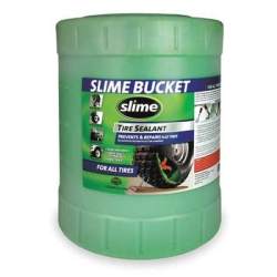 "Slime Tire Sealant, 5 Gallon Container, Repairs Punctures up to 1/4"" Instantly, Non-Toxic, Single"