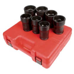 "7 Piece 3/4"" Drive Truck Pinion Locknut Impact Socket Set"
