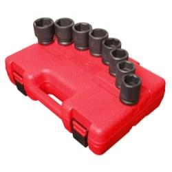 "8 Piece 3/4"" Drive Standard SAE 6 Point Impact Socket Set"