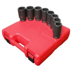 "8 Piece 3/4"" Drive 6 Point Deep SAE Impact Socket Set"
