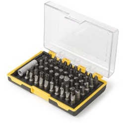 "Bit Set, 61 Piece, with Magnetic Bit Holder, 1/4"" Shank Assorted Bits"